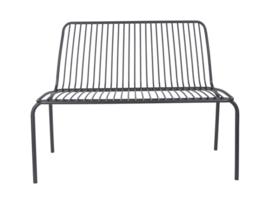 Outdoor Bench Lineate Metal Black