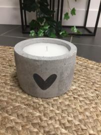 Kaarsen - beton - Tekst
