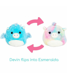 Fidget toy - Squishmallow - Flip A Mallows - Esmeralda/Devin - 12 cm