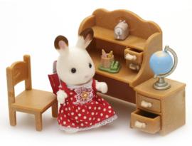 Sylvanian families - Chocolade meisje konijn/bureel