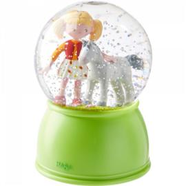 Haba - Nachtlampje/Sneeuwbol met Led - Paardengeluk
