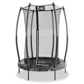 EXIT - Tiggy junior trampoline met veiligheidsnet ø140cm - zwart/grijs