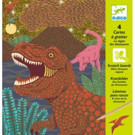 Djeco - Kraskaarten Dinosaurus