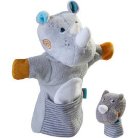 Haba - Poppenkastpop  Neushoorn met baby