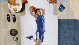 Snurk Dekbedovertrek - Basket Blauw