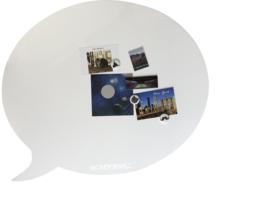 Wonderwall - Whiteboard en magneetbord - tekstballon 50x 60 cm