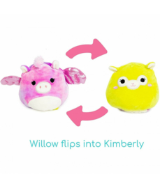 Fidget toy - Squishmallow - Flip A Mallows - Willow/Kimberly - 12 cm