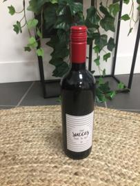 Wijn - Fles Rood - Veel succes, zet hem op