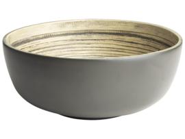 Gusta Schaaltje Bamboe-grijs - 20x8.5cm