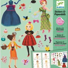 Djeco -  Stickers & Poppetjes van papier  - Helemaal in de mode
