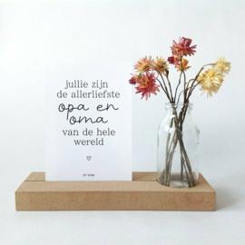 Memory Shelf - Vaasje droogbloemen - Kaart - Oma & Opa