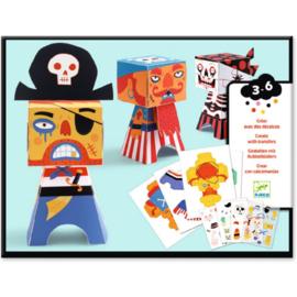 Djeco - Creëer met wrijfplaatjes-  Piraten