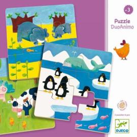 Djeco - Houten puzzel duo animo