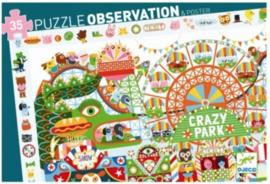 Djeco - Puzzel Crazy Park - 35 stukjes