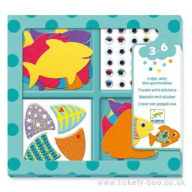 Djeco - Stickers - I love fish