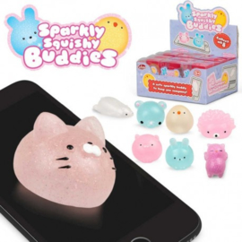 Fidget toy - Sparkly Squishy buddies (Per Stuk)