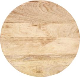 Borrelplank hout - Serveerplank rond
