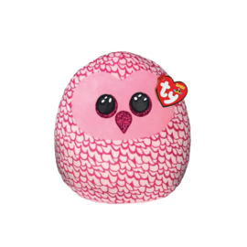 Fidget toy - Squishmallow -  Ty Squish a Boo - Pinky The Owl - 20 cm