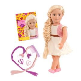 Our Generation Haargroeipop Phoebe - Witte jurk