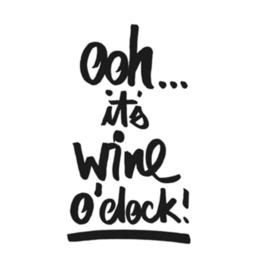 Servetten - Ooh  It's Wine o'clock- 33x33cm