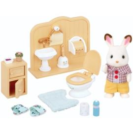 Sylvanian families - Broer chocolade konijn/badkamer