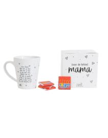 Cadeaupakket - 'Voor de liefste mama' - mok en tiny Tony's