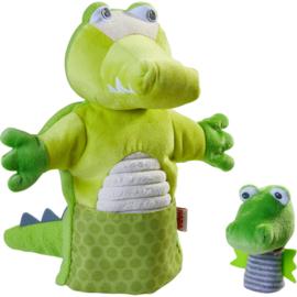 Haba - Poppenkastpop Krokodil met baby