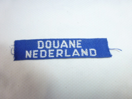 Douane Nederland  naamband gewoven