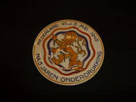 Nederland vrij 5 mei 1945 Herinneringsbord