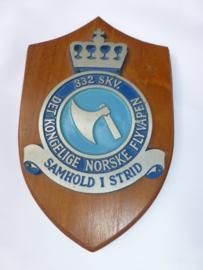 Noorse squadron  332  wandschildje