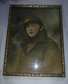 Ingelijst portret Belgische soldaat  1937