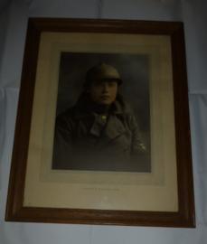 Ingelijst portret Belgische soldaat