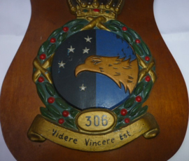 Uniek wandschild 306 Squadron KLU