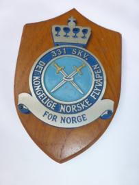 Wandschildje Noorse Luchtmacht  Squadron  331