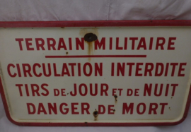 Emaille bord wo2