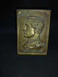Bronzen plaquette Koning Albert