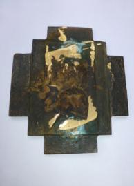 Bronzen plaquette van het Vuurkruis