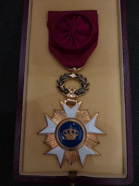 Belgische kroonorde medaille officier