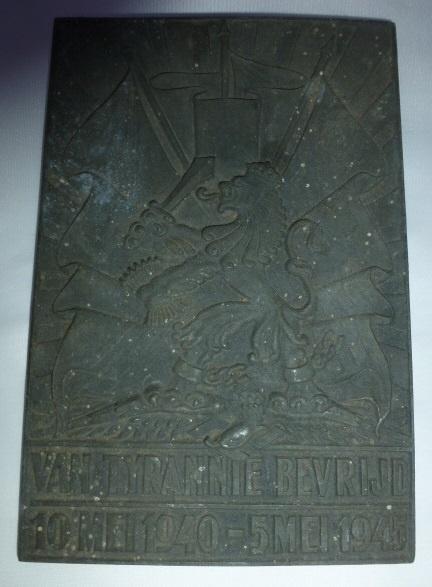 Herdenkings plaquette