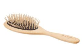 Hondenborstel lang haar met houten pinnen