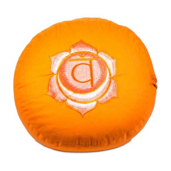 Meditatiekussen met geborduurd symbool Chakra II