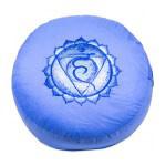 Meditatiekussen met geborduurd symbool Chakra V