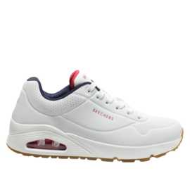 SKECHERS STREET SNEAKER - UNO STAND ON AIR - WHITE/NAVY/RED