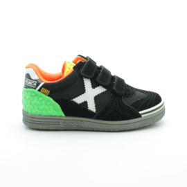 MUNICH KLITTENBAND SNEAKER - BLACK/GREEN