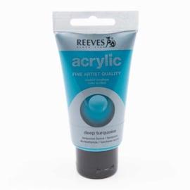 Reeves Acrylverf Diep Turquoise, tube 75 ml
