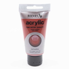 Reeves Acrylic Paint Red Ochre, tube 75 ml