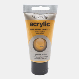 Reeves Acrylic Paint Yellow Ochre, tube 75 ml