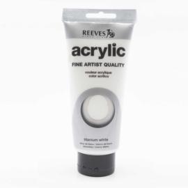 Reeves Acrylic Paint Titanium White, tube 200 ml