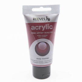 Reeves Acrylic Paint Deep Madder, tube 75 ml