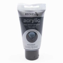 Reeves Acrylic Paint Mars Black, 75 ml